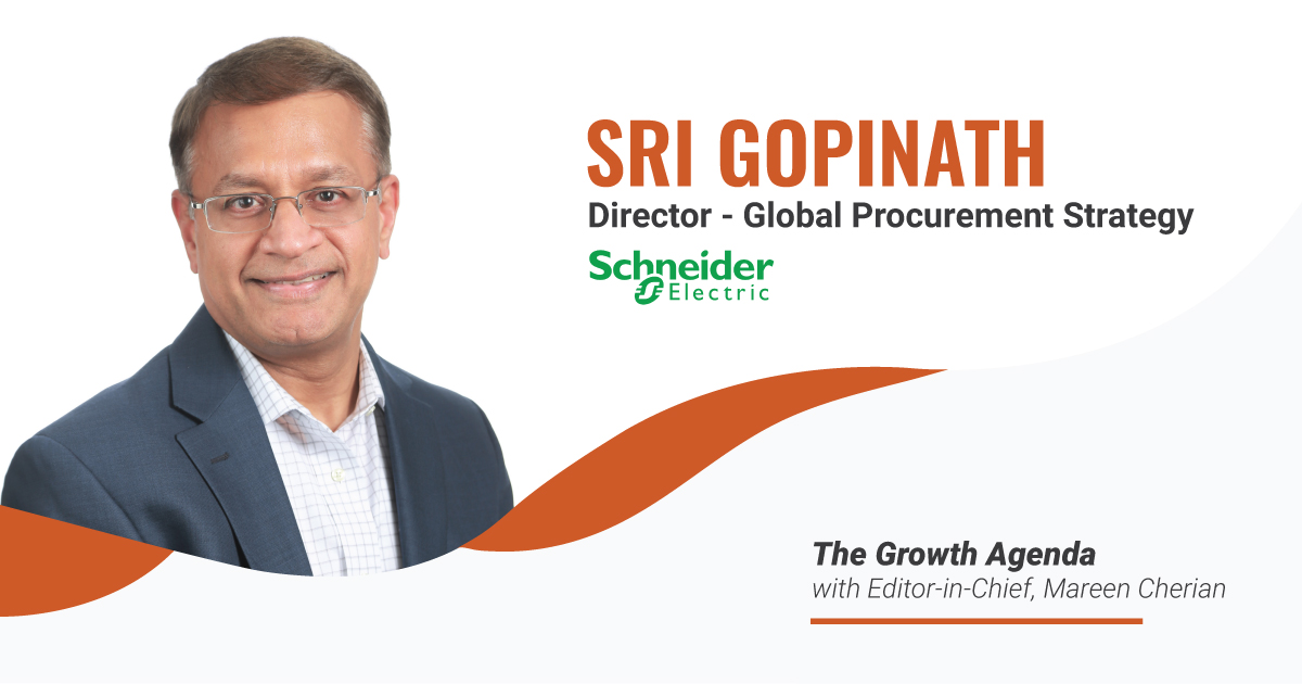 Q&A with Sri Gopinath, Director of Global Procurement Strategy at Schneider Electric