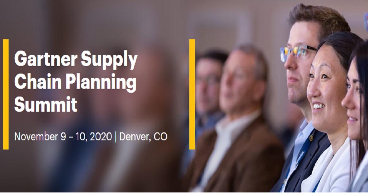 Gartner Supply Chain Planning Summit 2020