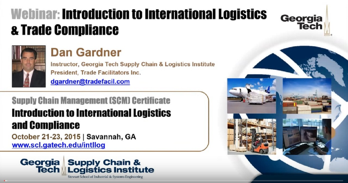 Introduction To International Logistics & Trade Compliance | Wheels ...