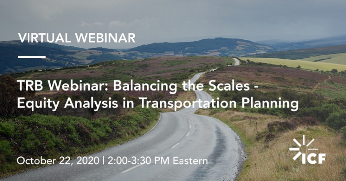 Balancing the Scales--Equity Analysis in Transportation Planning