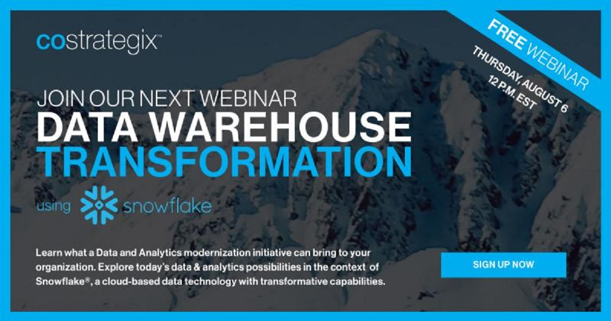 Data Warehouse Transformation using Snowflake