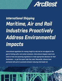 INTERNATIONAL SHIPPING MARITIME, AIR AND RAIL INDUSTRIES PROACTIVELY ADDRESS ENVIRONMENTAL IMPACTS